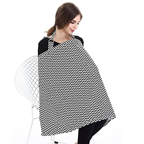 Accmor Nursing Cover Breastfeeding Cover, Multi-use Breathable Cotton Flax Breastfeeding Cover Ups Nursing Apron, Full Coverage, Rigid Neckline, Covers Up Newborns in Public by accmor (Image #6)
