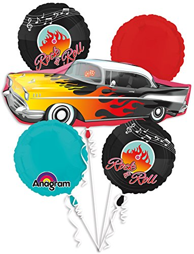 50's Rock-n-roll Bouquet Of Balloons (Classic Bouquet)