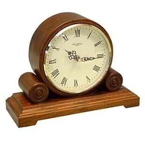 Widdop & Bingham - Reloj de mesa (madera, funciona con 1 pila AA), diseño antiguo