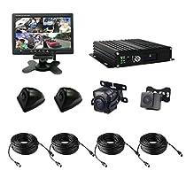 TrackSec T17-C024 Vehicle Surveillance Camera System, Black