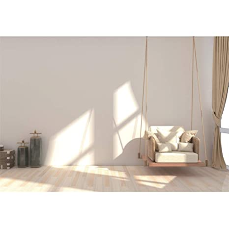 CSFOTO 10x7ft Interior Decoration Backdrop Living Room Decor Background for Photography Modern Bedroom Decor Interior Room Decor Hammock Sofa Wood ...