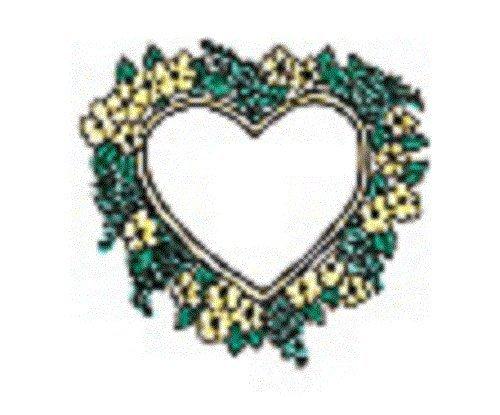 Center Enterprise E725'Flowery Heart' Stamp