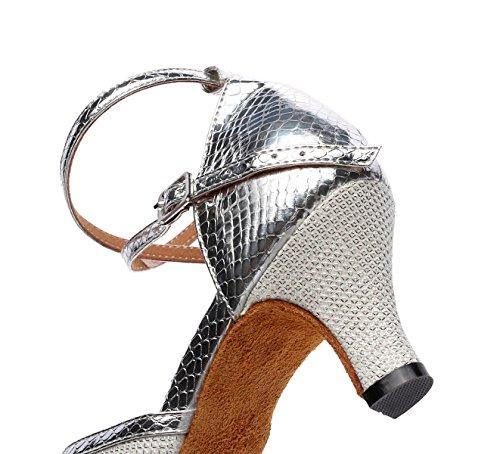 Jshoe uk6 Chacha De Hauts Argents7 Eu39 Sandales Femme Tango Latine Pour Danse 5cm Samba Talons Our40 Chaussures Moderne Jazz Salsa Frxw8F