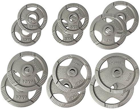POWRX Discos olímpicos 30 kg Set (2 x 15 kg) - Pesas Ideales para ...