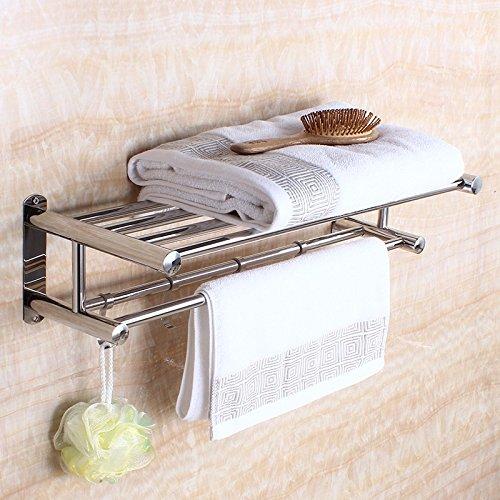 Aluminum Alloy 50cm Space Double Holder Towel Rails - 2