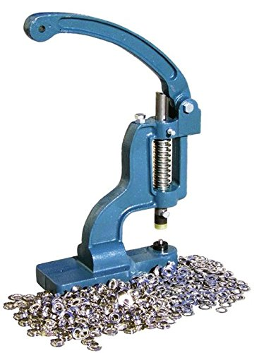 Grommet Kit Press Machine with 1000 5/16'' Grommets and Die Set Puncher