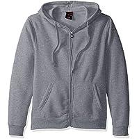 Southpole Premium Fabric Full Zip Fleece Men's Hooded (Heather Grey)