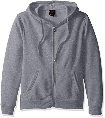Basic Full Zip Hoody Sweatshirt (Southpole Men's Active Basic Hooded Fleece Full Zip, Heather Grey, Heather Grey(New), Large)