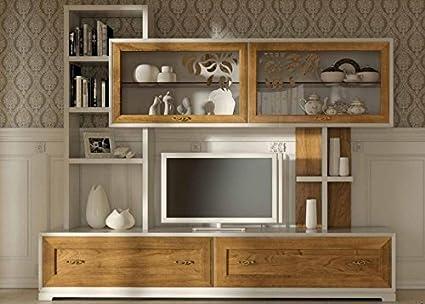Dafnedesign.com - Parete componibile per soggiorno, colore legno ...