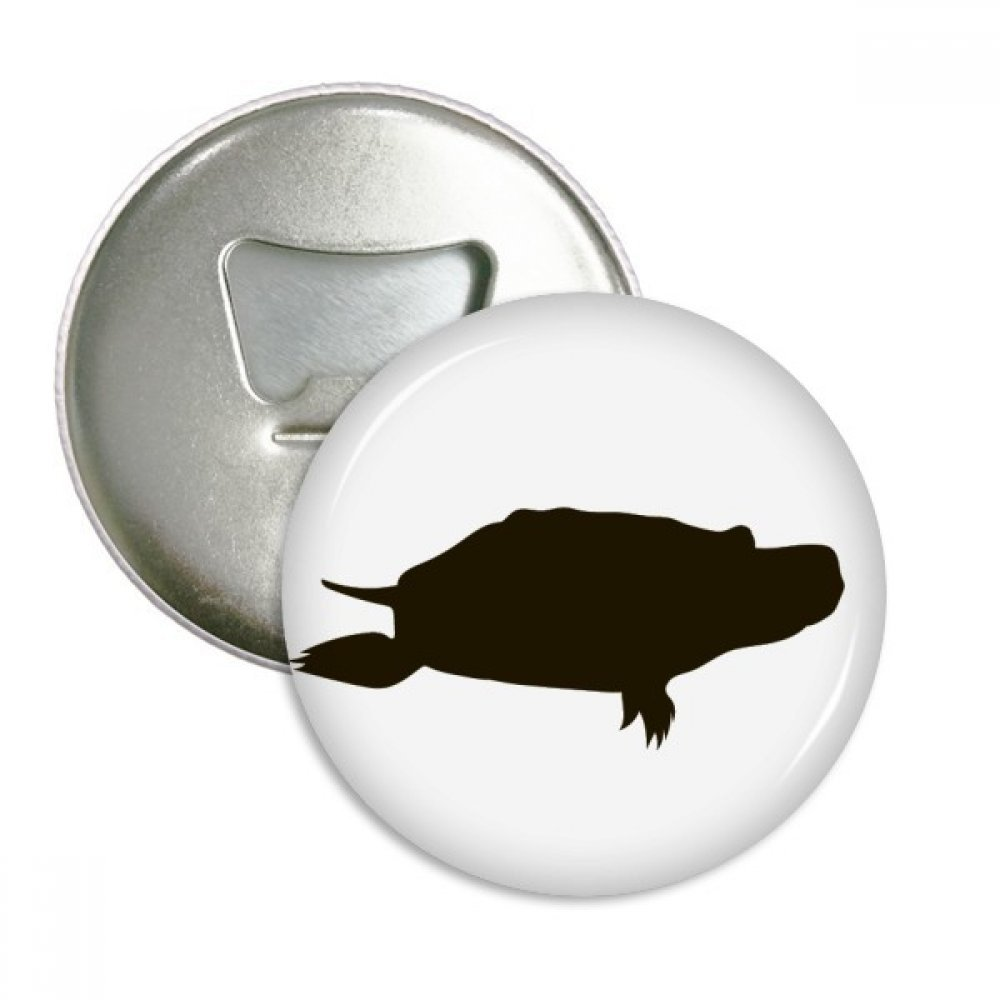 Black Turtle Animal Portrayal Round Bottle Opener Refrigerator Magnet Badge Button 3pcs Gift