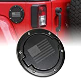 Savadicar Gas Fuel Tank Cap Cover w/U.S. Flag for 2007-2017 Jeep Wrangler JK