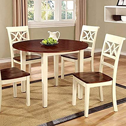 Amazon.com - 247SHOPATHOME dining-room-sets, White and ...