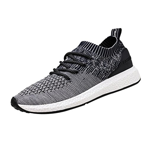 2018 Mens Running Sneaker,Casual Mesh Breathable Lace up Sports Shoes (Dark Blue, US:8.5)