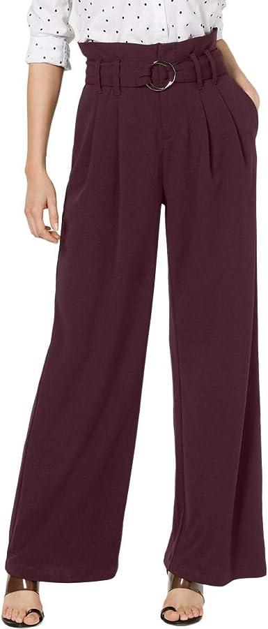 Amazon Com Inc Pantalones De Trabajo Para Mujer Talla 6 Color Burdeos Clothing