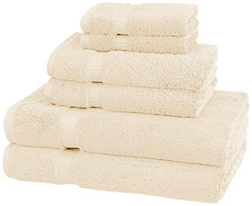 Pinzon Organic Cotton Bathroom Towels, 6 Piece Set, Ivory