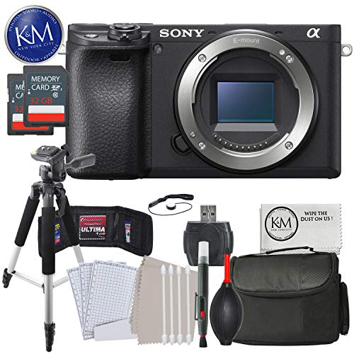 Sony Alpha a6500 Mirrorless Digital Camera (Body Only) with Advanced Striker Bundle