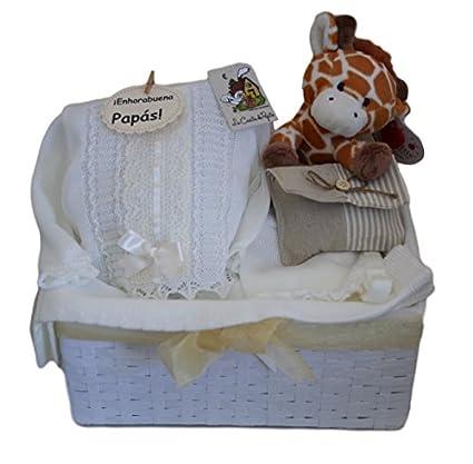 Cesta para bebé Sweet Miracle beige, regalo para recién nacido ...
