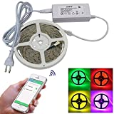 SZYT WIFI smart light strip set mobile APP control RGBW light strip US plug