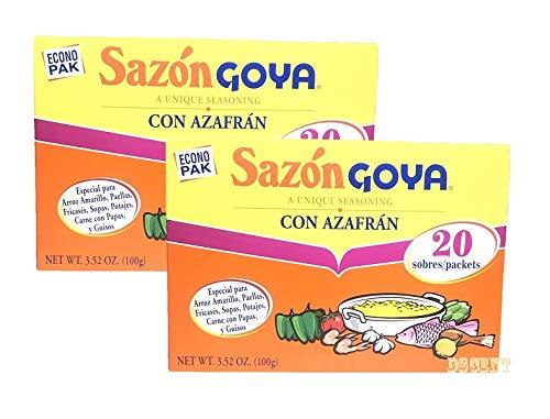 Goya Sazon Con Azafran - 3.52 oz (2 packs)