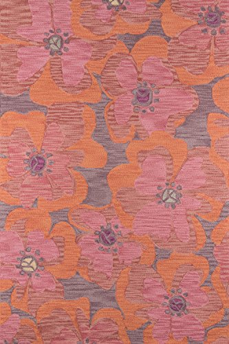 Raspberry Rug Rug - Momeni Rugs  Summit Collection, Hand Knotted Transitional Area Rug, 3'6
