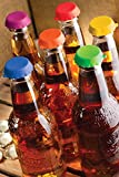 FREEDco Beer and soda Savers - Silicone Rubber Reusable Bottle Caps, pack of 6