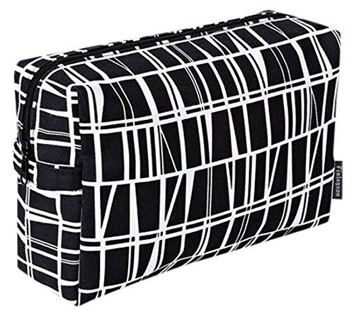 FINLAYSON ® coronna Neceser, algodón, Negro/Blanco, 28 x 20 cm ...