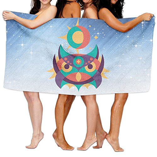(Qyahooshy Bath Towel Colorful Geometric Owl Custom Thick Large Swim Beach Towels)