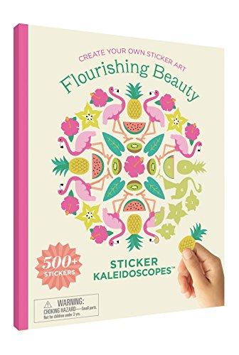 Mrs. Grossman's Sticker Kaleidoscopes Art Activity Book, Flourishing Beauty, Multicolor - Mrs Grossmans Sticker Sheet