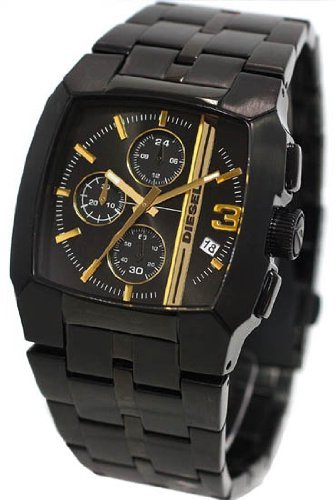 Men Diesel DZ4259 Black Stainless Steel Case and Bracelet Black Dial Chronograp