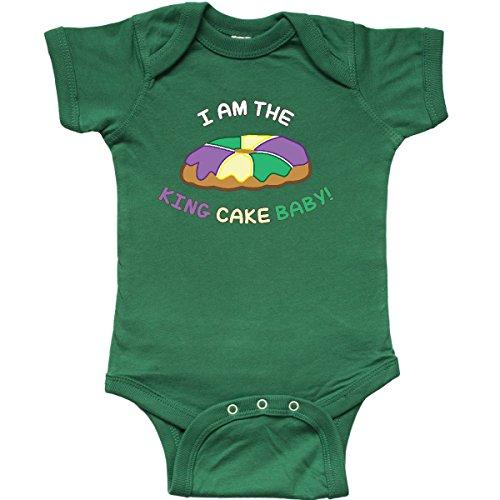 inktastic - I am The King Cake Baby Infant Creeper Newborn Kelly Green 25dc7