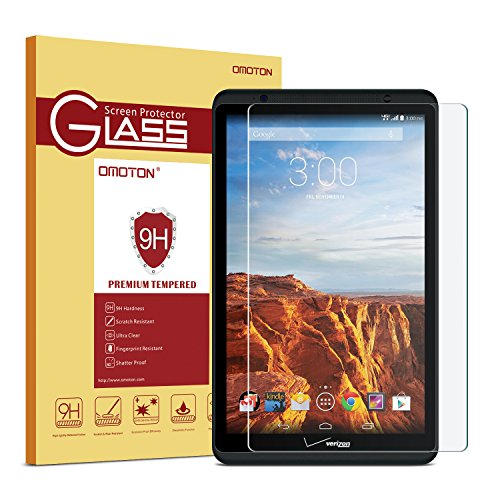 Verizon Ellipsis 8 Screen Protector, OMOTON Tempered Glass Screen Protector with [2.5D Round Edge] [9H Hardness] [Crystal Clear] [Scratch-Resistant] [No-Bubble] for Verizon Ellipsis 8 inch (Verizon Touch Screen)