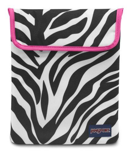Pink Miss Zebra - Jansport - 1.0 Tablet Sleeve, Size: O/S, Color: Black/White/Fluorescent Pink Miss Zebra