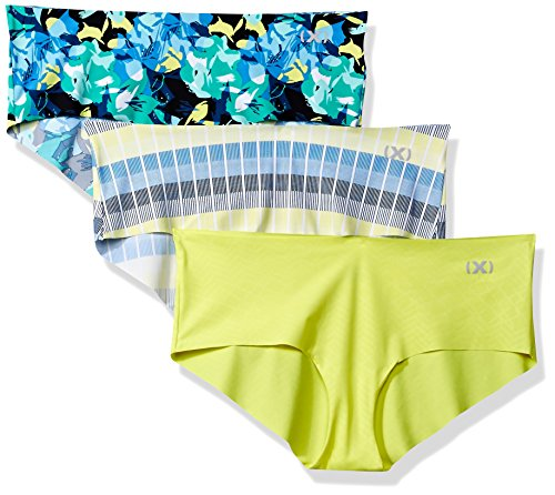 2(X)IST Women's 3 Pack Laser Cut Hipster, Lemon Tonic/Beach Stripe/Floral, XS