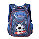 Toddler's Kid's Backpack-Cool Football Shool Bag Backpack Bookpack Casual Daypack for Boys Girls 6-12 Years Old red one Size