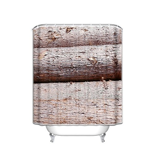 Prime Leader Custom Shower Curtains Brown Trunk Waterproof Polyester Fabric Shower Curtain Hooks Included Gift Ideas 36