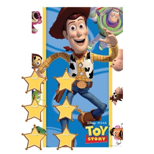 """""""Toy Story 3 Party Game (1 poster, 12 Stickers, 1 Blindfold) for 2-12 players"""