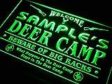ADVPRO Name Personalized Custom Deer Camp Big Racks Bar Beer Neon Sign Green 24'' x 16'' st4s64-tu-tm-g