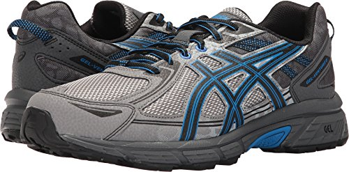 ASICS Men's Gel-Venture 6 Running Shoe, Aluminum/Black/Directoire Blue, 12 4E US