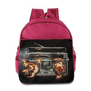 Green Da Revolution Radio Kids Backpack School Bag For Boys/girls Pink
