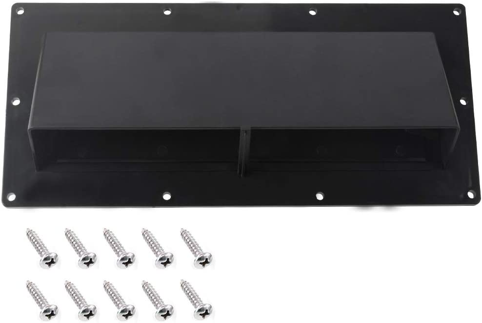 Gekufa RV Range Hood Vent Cover Black, RV Stove Vent Cover/RV Exhaust Vent Cover (Include 10 Pcs Screws)