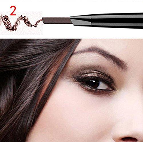 Creazy Waterproof Eye Brow Eyeliner Eyebrow Pen Pencil With Brush Makeup Cosmetic Tool (B)