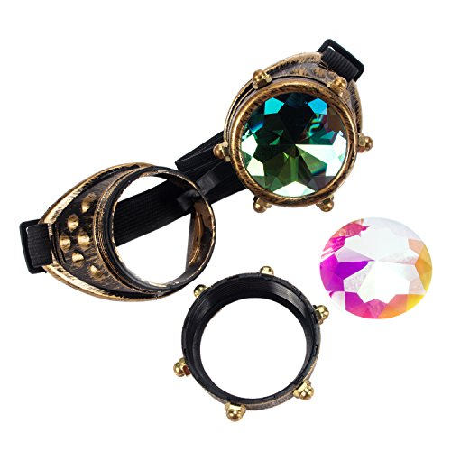 Steampunk Victorian Goggles Kaleidoscope Welding Glasses Diesel Punk Rustic Cosplay Costume Accessories Sunglasses ()