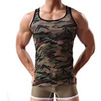 Lanyan Men's Army Camouflage Gym Sport Running outwork...