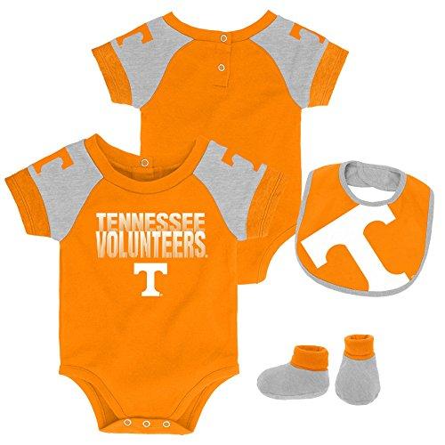 - Gen 2 NCAA Tennessee Volunteers Newborn & Infant 50 Yard Dash Bib & Bootie Set, 3-6 Months, Light Orange