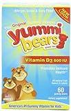 Yummi Bears Vitamin D3, 60-Count Bottle, Health Care Stuffs