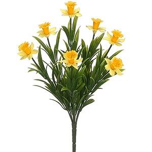 "13.5"" Narcissus Daffodil Silk Flower Bush -Yellow (Pack of 12) 65"