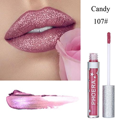 Oksale® Matte To Glitter Liquid Lipstick Waterproof Lip Gloss Makeup Lip Glosscolor (G)