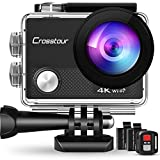 Crosstour Action Camera 4K Ultra HD Wi-Fi Underwater Remote Control 30m Waterproof Camera