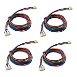 #1: RepRapChampion 4 PCS x 1 Meter Long Stepper Motor Cables for NEMA 17, works with MKS GEN, MKS BASE and TEVO 3D Printer electronics