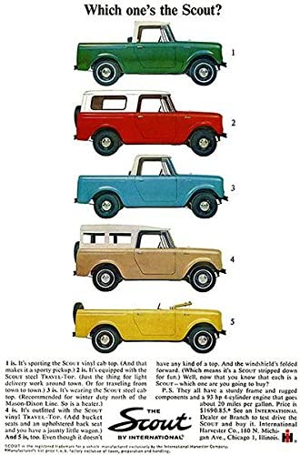1964 International Scout Promotional Advertising Poster
